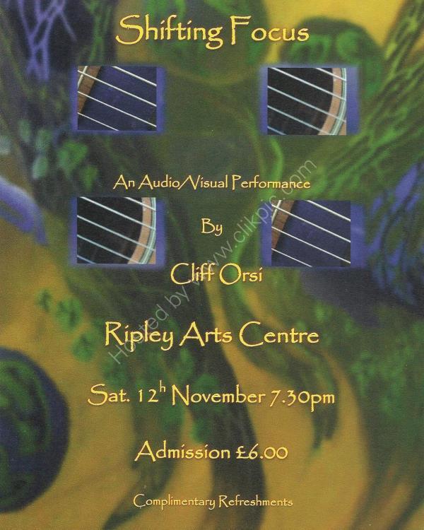 Shifting Focus Concert Flyer