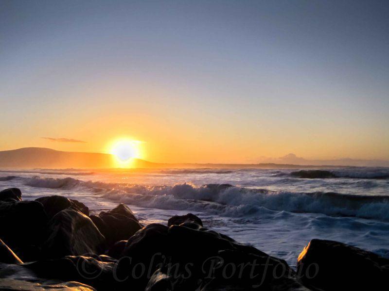 Winter sunset over Strandhill, Co. Sligo