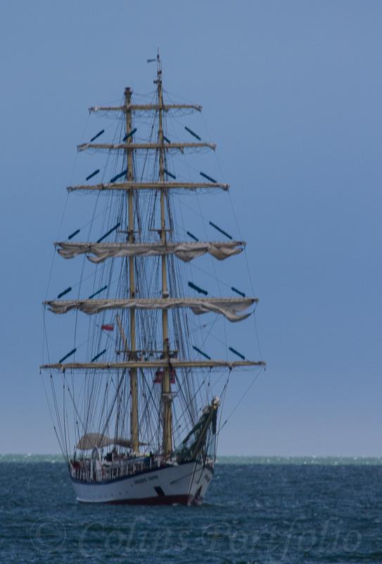 Polish tall ship 'Fryderyk Chopin', built 1992