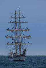 Polish tall ship 'Fryderyk Chopin', built 1992