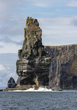 The Branaunmore sea stack at the Cliffs of Moher