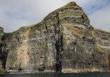 A closer view of the sheer cliffs