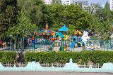 Children's playground in the city suburbs