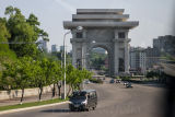 The Arch of Triumph, erected in 1982, on the 70th birthday of Kim Il Sung.