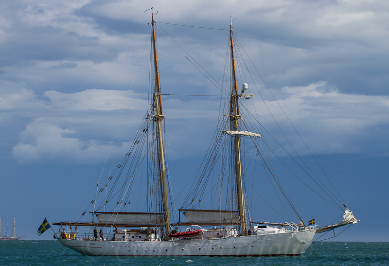 Swedish Navy sail training vessel 'Falken', built 1947