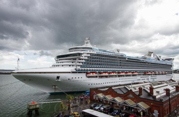 The cruise ship 'Caribbean Princess' at berth