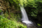 Glencar waterfall viewed from a higher vantage point