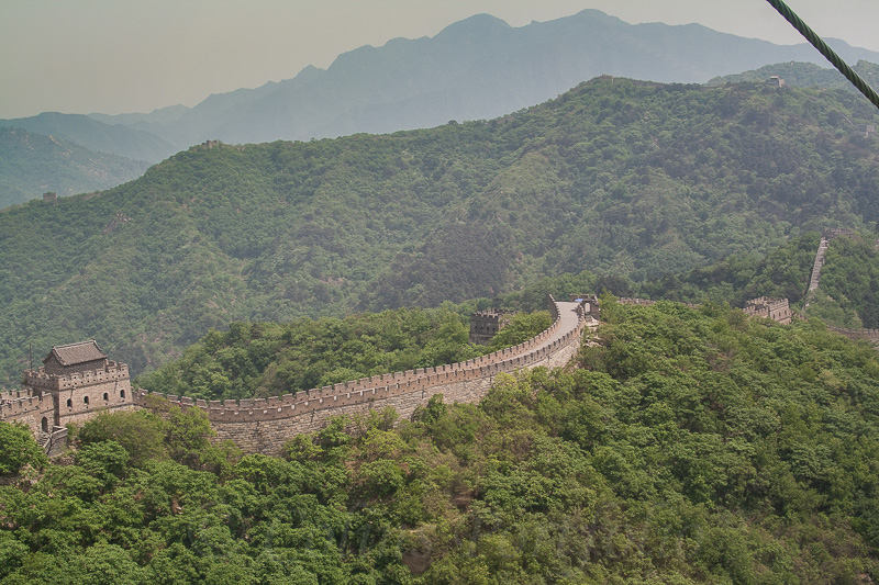 My first view of the Great Wall from the cablecar