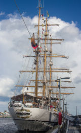 Ecuadorian Navy sail training ship 'Guayas', built 1978