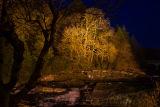 The Sheen Falls at night