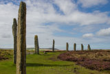 Some of the remaining 27 standing stones of which there were originally 60.