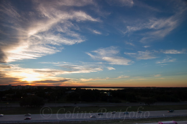 Sunset over the I-4