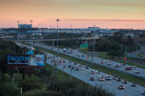 Traffic heading downtown to Orlando