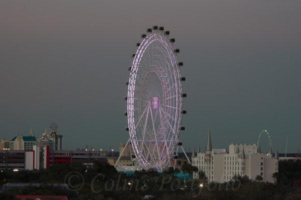 The Orlando Eye at dusk
