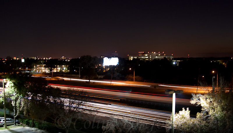 Night traffic on the Interstate 4