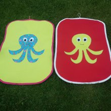 Octopus baby applique changing mat