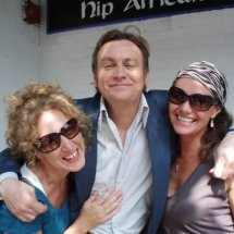 With the wonderful Phil Glenister