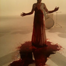 Amanda Palmer on the set of The Killing Type