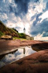 Hale lighthouse reflection portrait (c)
