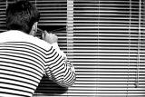 Striped portrait web