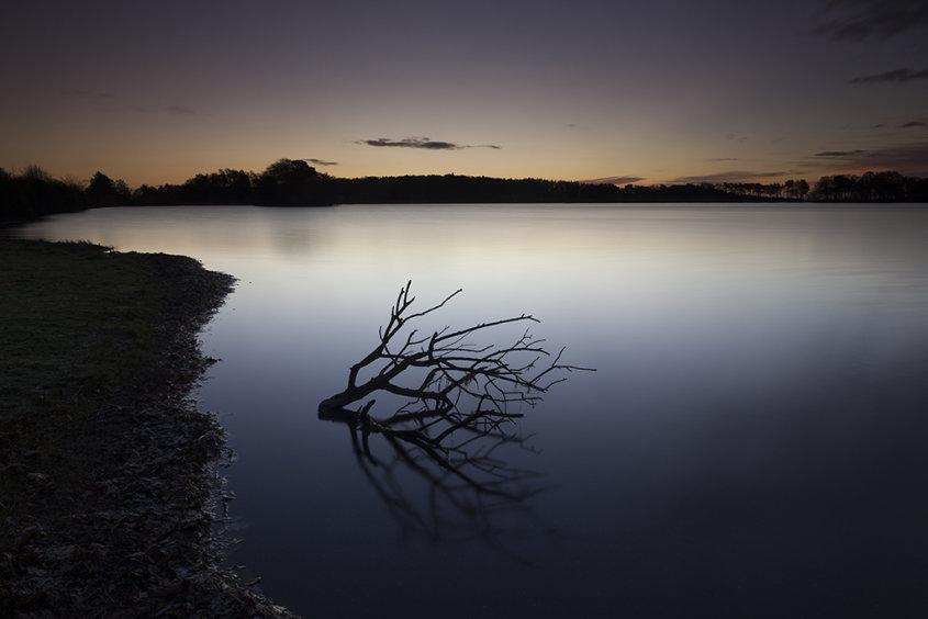 abandoned, monikie reservoir