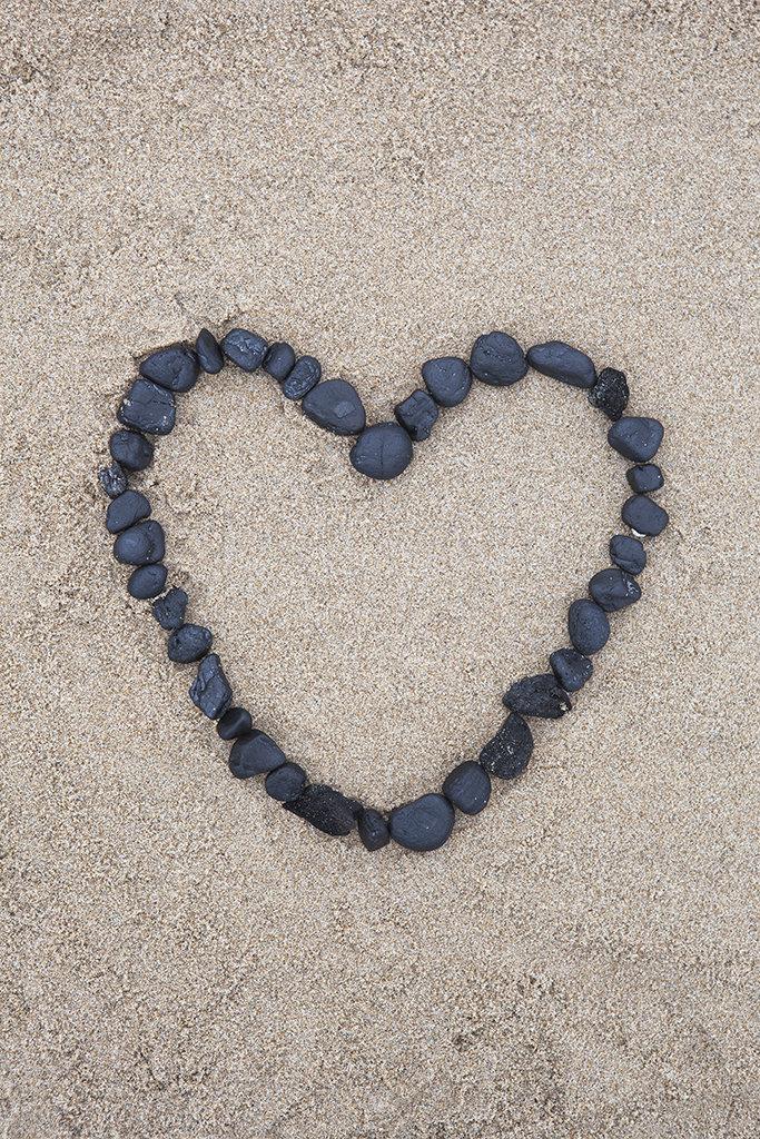 black stone heart