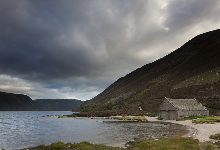 boathouse, loch muick