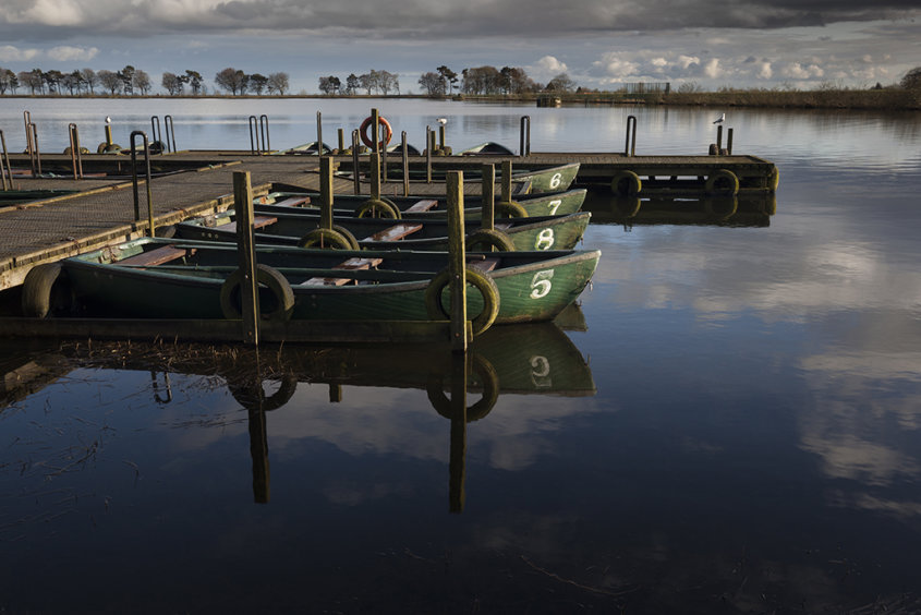 boats, monikie reservoir