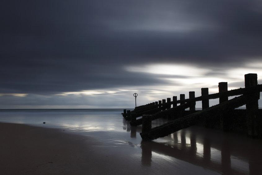groyne, aberdeen beach