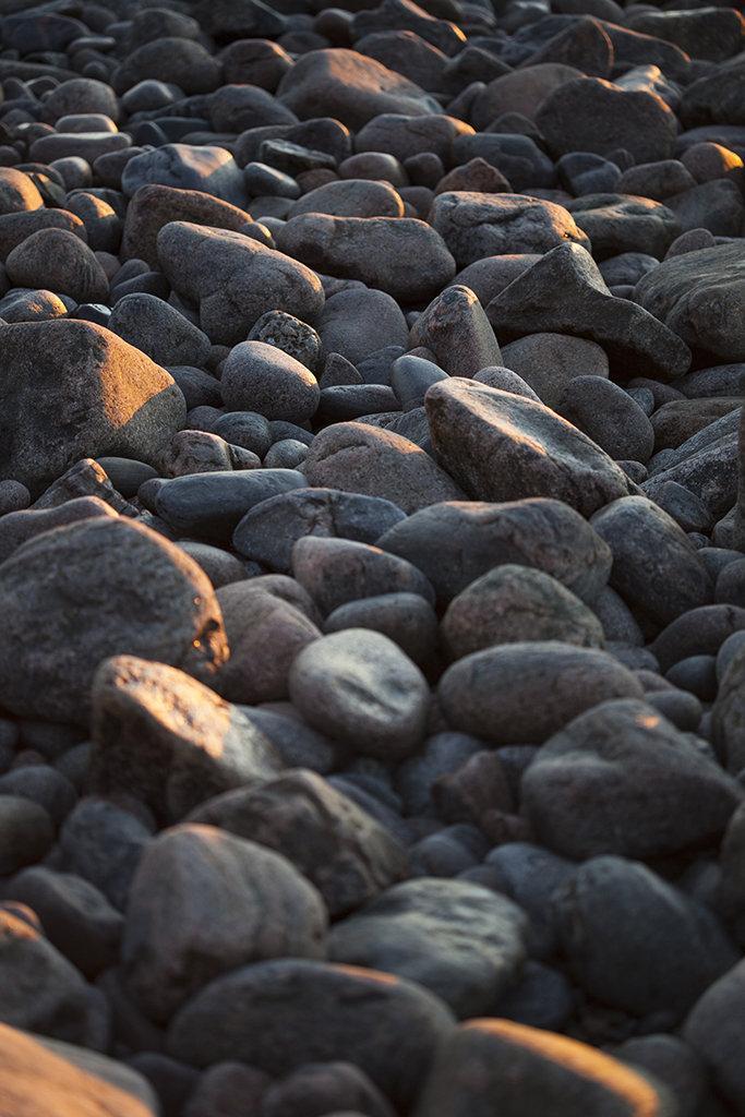 morning light on the rocks