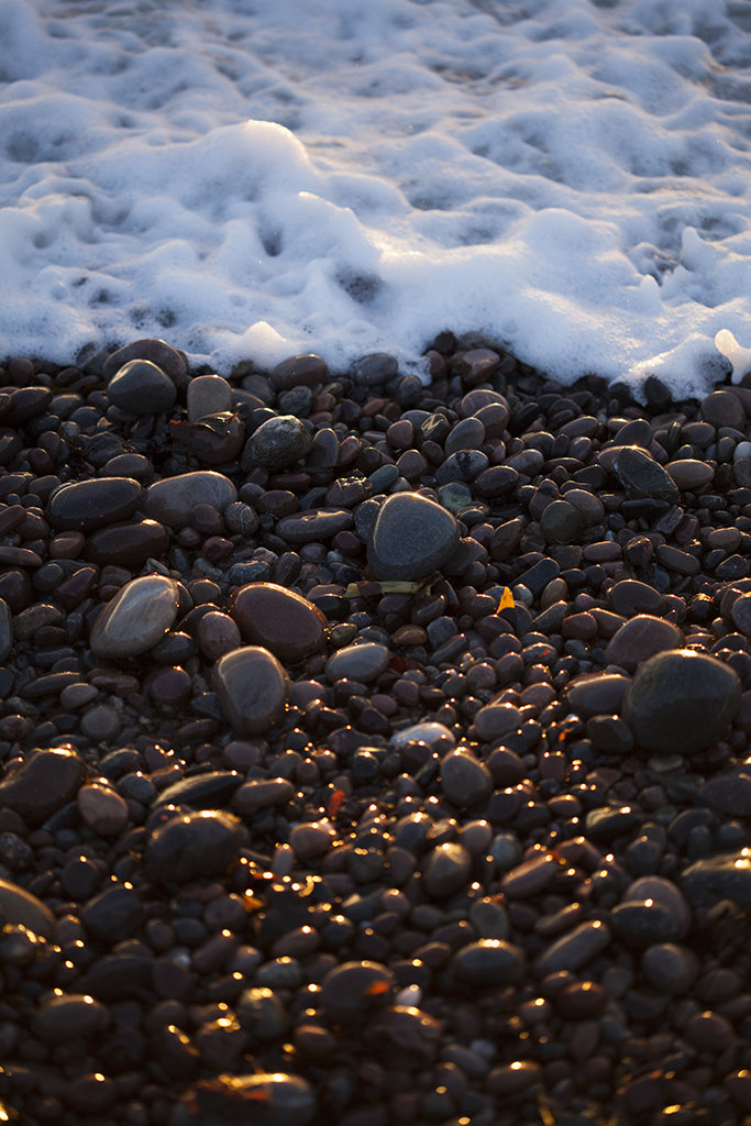 pebbles and sea, inverbervie