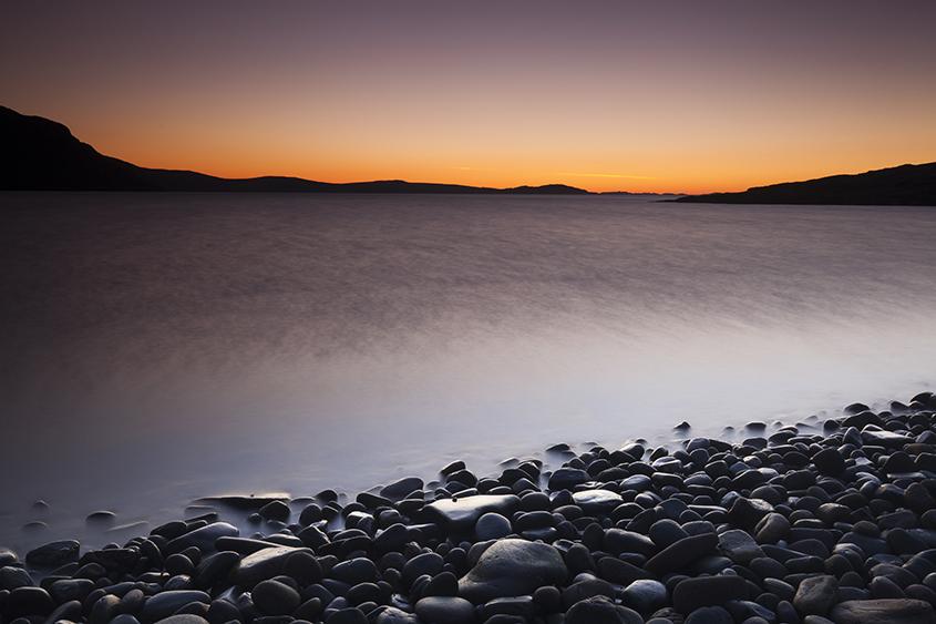 rhue beach sunset