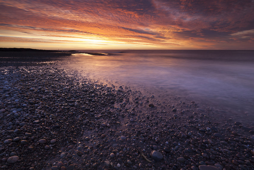 sunrise, bervie bay