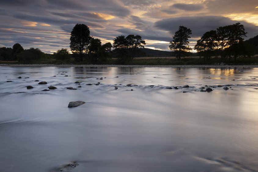 sunset by the river dee