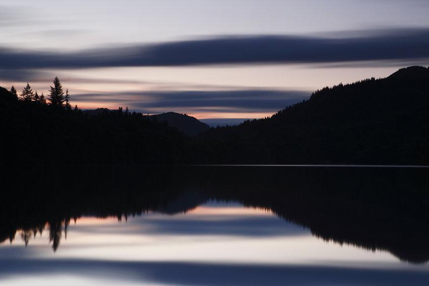 sunset over loch faskally