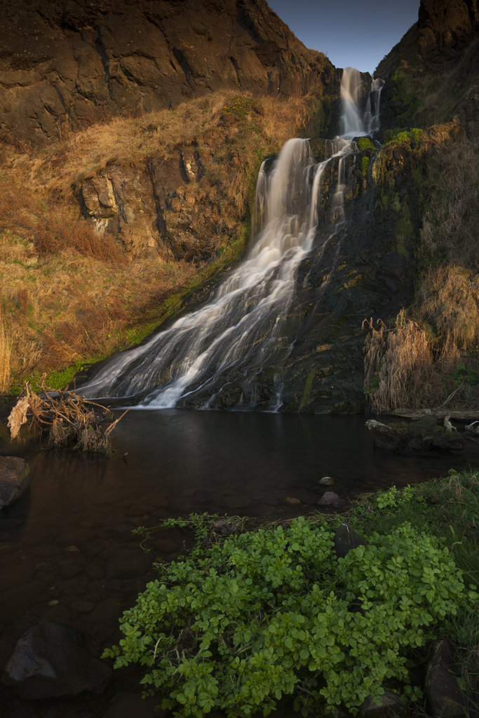 waterfall in the morning sun