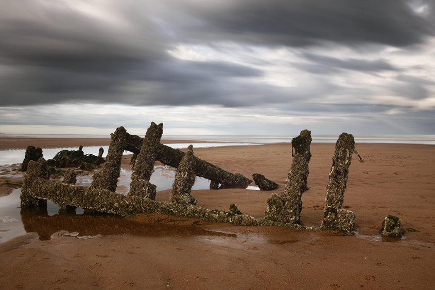 wreck, balmedie beach