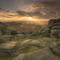 CSL001-Hail Storm Approaching on Higger Tor-6782a