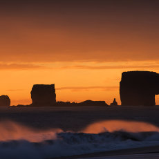 CSL035-Dyrholaey Stacks at Sunset-1031