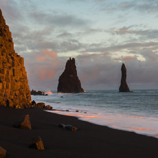 CSL043-Sunset on Basalt on Vik Beach-1027