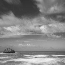 CSL082-Gull Rock off Trebarwith Strand Mono-7470