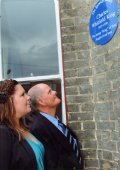 After unveiling blue plaque