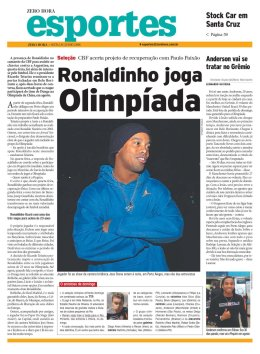 Esportes supplement - Zero Hora newspaper