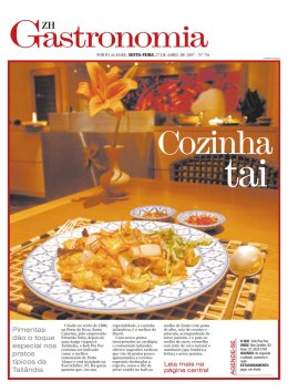 Gastronomia supplement - Zero Hora newspaper