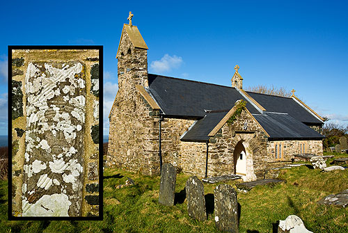 Inscribed Stones - St Gwyndaf Church / Llanwnda