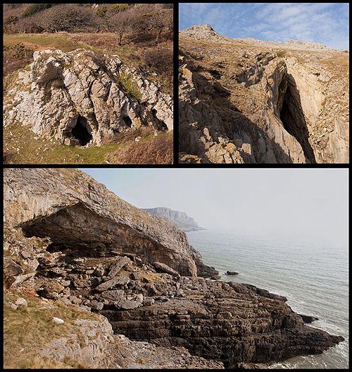 Pennard Cliff Caves