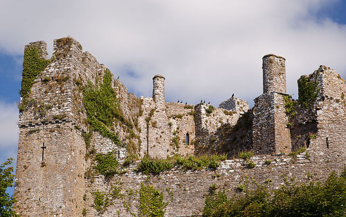 Manorbier Castle Chimneys