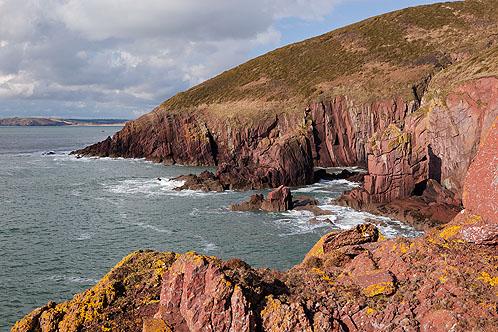 Red Sandstone Sea Cliffs