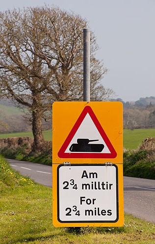 Tank - Road Sign