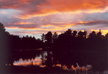 Sunset over Elliot Lake, Canada (2000)